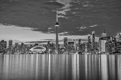 TORONTO SKYLINE SERIES (blink to click) Tags: tdot toronto ontario canada downtown landmark buildings skyscrapers highrise architecture architectural cntower tourism tourist sky tall skyline blinktoclick blink2click nikond750 night clouds skydome rogerscentre water lakeontario lake city dusk