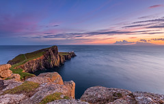Neist Point Lighthouse (Bohumil Daa) Tags: uk sunset sea sky colour skye water clouds canon scotland highlands glendale scottish lee gb theme isle 6d of