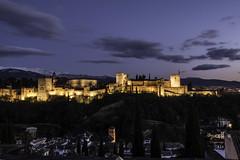 La Alhambra Pt.2 (Xavy Vp) Tags: sunset sky espaa castle night photography la nikon alhambra granada vp xavy 1224mmf4 d7100