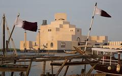 Museum of Islamic Art, Doha, Qatar (maxunterwegs) Tags: bandeira bandera catar doha drapeau flag flagge impei ieohmingpei item katar museum museumfürislamischekunst museumofislamicart muséedartislamique qatar