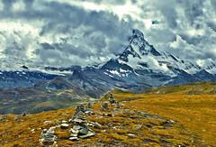 Stormy weather on the Matterhorn, no. 2578. (Izakigur) Tags: europe stones zermatt matterhorn ch valais musictomyeyes myswitzerland kantonwallis nikond700 nikkor2470f28 izakigur cantonduvalais