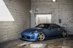 Clay's 350z (Erik Breihof Photography) Tags: world blue photography gold nissan air wheels wrapped fresh clean third erik society offensive 350z polished volk bagged fitment canibeat breihof slammedenuff