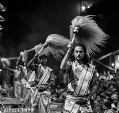 Ganga aarti at Varanasi (asheshr) Tags: blackandwhite india monochrome up mono nikon varanasi blacknwhite hindu hinduism ganga ganges banaras aarti ghat uttarpradesh gangaaarti incredibleindia dashashwamedhghat ghatsofvaranasi ghatsofbanaras d7200 gangaaartiinvaranasi nikond7200 gangaaartiinbanaras
