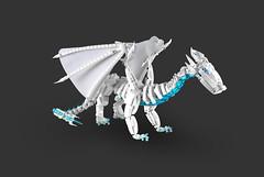 Elemental Ice Dragon (cecilihf) Tags: dragon ice lego moc elemental white