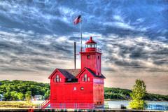 Holland Michigan Light House (hylas_husband) Tags: holland michigan lighthouse tonemapped hdr photomatrix
