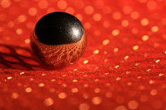 Another Mars (alideniese) Tags: light shadow orange macro reflection closeup ball bokeh sphere tiny netting