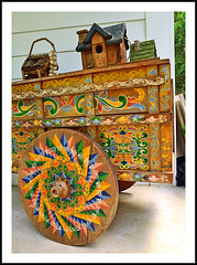 A Costa Rican Ox Cart on a Michigan Porch (sjb4photos) Tags: michigan ypsilanti