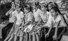 Watching the boys (FotoGrazio) Tags: girls friends people blackandwhite art face kids composition children asian photography eyes photoshoot faces philippines group expressions streetphotography photojournalism streetportrait streetscene portraiture schoolchildren moment photographicart schoolkids capture neighbors emotions bicol middleschool socialdocumentary digitalphotography littlegirls pacificislanders documentaryphotography legaspicity sandiegophotographer artofphotography flickrelite californiaphotographer internationalphotographers worldphotographer photographersinsandiego fotograzio photographersincalifornia waynegrazio waynesgrazio