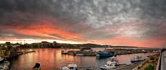 Red Sky @ Night (e0nn) Tags: ocean sunset cloud clouds pentax harbour tamron steev wollongong bluemile 1024mm steveselby steveselbyphotography pentaxk3