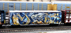 yeti (timetomakethepasta) Tags: yeti wholecar freight train graffiti art bprr boxcar