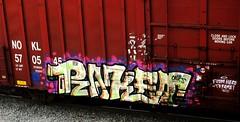 raket (timetomakethepasta) Tags: raket tms sfl oniks freight train graffiti nokl boxcar