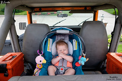 Buddy- June 30, 2016 (zachary.locks) Tags: orange baby car jack back infant ride jeep seat first son buddy tight fit wrangler cy365 zlocks