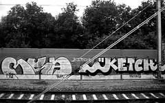 trackside graffiti (wojofoto) Tags: holland graffiti nederland netherland spoor ketch trackside nsa spoorweg wolfgangjosten wojofoto