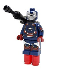 Lego Custom Minifigures - Iron Patriot by Minifigs4u (Royal Blue_) Tags: iron lego ironman patriot superheroes custom marvel minifigures minifigs4u