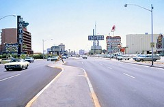 Las Vegas, 1967 (cruisemagazine) Tags: camera las vegas june vintage see is pretty do boulevard with traffic little you photos pics who good parking go snapshot some tourist here via have strip only 1967 if what they had these their glimpse seen focused along lots especially locales lining though provide zooming snapped phenomenal  carspotting storied obtained as wed vegass