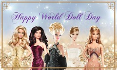 Happy World Doll Day 2016 (Paul BarbieTemptation) Tags: world new york happy gold bride doll day anniversary label barbie wang 50th vera philipp plein platinum rhapsody christabelle 2016