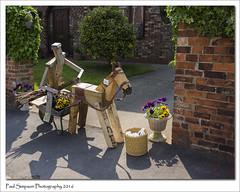 Wooden Horse and Barrow (Paul Simpson Photography) Tags: flowers horse flower nature lincolnshire wheelbarrow barrow woodenman photosof imageof photoof barrowuponhumber imagesof sonya77 paulsimpsonphotography june2016