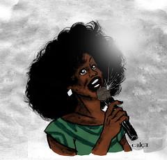 Estudo de personagem (Rafael Cala) Tags: draw art study estudo personagem character design cantora singer womam mulher negra black music rafaelcala