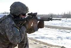 ENGAGING TARGETSAND INDUSTRY PARTNERS (U.S. Army Acquisition Support Center) Tags: infantry alaska us unitedstates 124 soldiers range m4 legion usarmy qualification stryker eib fortwainwright expertinfantrybadge usarak 1stsbct