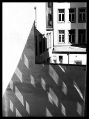 light & shade (stromlinienbaby) Tags: windows light shadow urban house contrast backyard frankfurt shade block