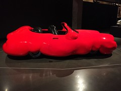 fat car by erwin wurm (idontkaren) Tags: red sculpture art car museum australia mona tasmania erwinwurm fatcar museumofoldandnewart