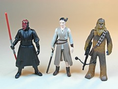 Takara Tomy  Star Wars Metal Collection (Metacolle) Diecast Figures Series #13 to #15  Darth Maul, Rey & Chewbacca 1 (My Toy Museum) Tags: metal star collection darth rey wars takara tomy chewbacca maul diecast metacolle