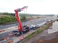 Mammoet Liebherr at the Raith (smokey pipes) Tags: crane motorway bridge construction m74 scotland rigup slings truckcrane hydrauliccrane