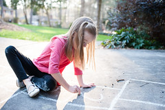 creating her own (veader) Tags: 35mm lorelai year6 sick hopscotch chalk