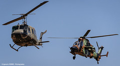 Old & new (Ignacio Ferre) Tags: airplane nikon aircraft aviation military landing helicopter avin tigre helicptero eurocopter iroquois spanisharmy belluh1hiroquois famet lecv ec665 eurocopterec665tigre