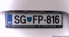 SG FP-816 (XBXG) Tags: plaque plate license slovnie immatriculation kenteken sloveni immat