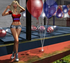 Already Hammered (lauragenia.viper) Tags: lorien lusciousdelights mayfly mina verocity secondlifefashion red avatar 4thofjuly balloons