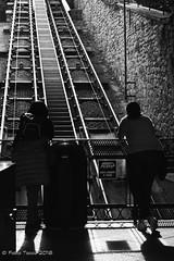 l'attesa (Fabio Tacca) Tags: funicular tracks wagon slope funicolare binari vagone pendenza attesa fabiotacca women photographers waiting donne fotografe streetphotography blackandwhite biancoenero acofficinafotografica riflessi reflections nikond3300 light backlight