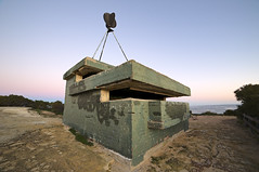 World War II gun lookout. (Macr1) Tags: 61403327236 architecture australia building builtenvironment bunker cameras conditions d700 day default disused fortification itemcondition lenses location markmcintosh nikon nikond700 old outdoor pointperon samyang14mmf28ifedumc structure sunset wa westernaustralia macr237gmailcom markmcintosh
