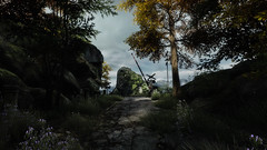 VOEC - 024 (Screenshotgraphy) Tags: sunset sky mountain lake game nature colors architecture clouds contrast montagne landscape pc screenshot lumire couleurs country lac ethan steam gaming ciel beaut carter concept nuages paysage vanishing campagne beautifull jeu naturelle urbain