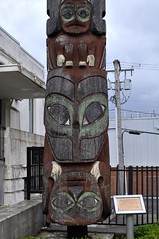 Totem Pole in Prince Rupert 2 (Tynan Phillips) Tags: canada art artwork nikon bc native britishcolumbia totem canadian carving firstnations totempole totempoles dslr woodcarving totems indigenous princerupert nativeart indigenousart d90 nikond90