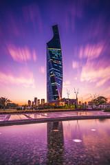 Modern Architecture (Muhammad Al-Qatam) Tags: pink sunset tower architecture modern big nikon hour kuwait kuwaitcity stopper d810 alqatam altijariya malqatam muhammadalqatam