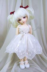 Ecru & beige dress for TINY bjd LittleFee Momocolor 29, Saintbloom (*frezje*) Tags: doll dress crochet chloe tiny bjd dollfie fairyland eff ltf frezje littlefee littlefeechloe