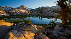 Emigrant Wilderness (Jeff Pang) Tags: sunset lake dusk hiking backpacking frogs alpenglow
