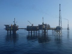 Eldfisk new flare (thulobaba) Tags: blue sea tower water norway construction energy offshore platform engineering calm gas cranes northsea installation rig flare oil conocophillips eldfisk