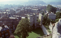 View From Above... (colinfpickett) Tags: castle buildings town view shops dwellings battlements daysgone