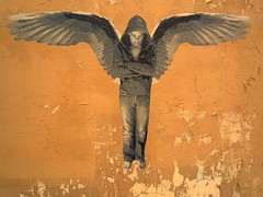 City of angels (nder) Tags: street paris art wall angel stencil arte ange urbana angelo rue mur urbain pochoir ender ailes