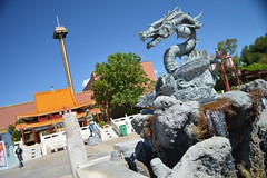 Chinese Dragon Fountain (CoasterMadMatt) Tags: china park parque espaa costa building tower primavera fountain port season de photography amusement spring spain european dragon photos edificio decoration may fuente drop catalonia structure resort east spanish photographs fotos theme destination mayo catalunya este condor attraction park salou dragn temporada aventura daurada espaol atracciones intamin fotografa fotografas dorada decoracin portaventura tarragons resort atraccin costa temtico themeing 2013 port hurakancondor european parque hurakan droptower theme provincia dorada aventura province temtico atracciones tarragona coastermadmatt daurada