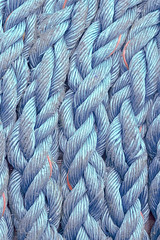 nautical ropes twisted with knots (Mimadeo) Tags: old blue texture thread closeup cord fishing marine pattern ship background twist cable rope knot line string strong strength sailor nautical rough tied twisted textured interlaced