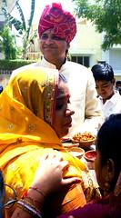 Gifts for the bridegroom (bokage) Tags: wedding woman india marriage gift bridegroom jaipur rajasthan bokage