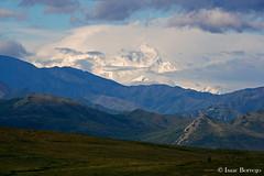 Denali Beneath the Clouds - Alaska (isaac.borrego) Tags: mountain snow mountains alaska clouds peak glaciers denali tundra denalinationalpark mountmckinley canonrebelxsi
