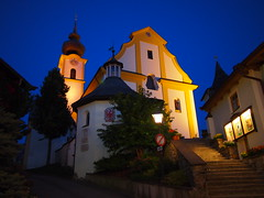 Village church, Sll, Austria (olmofin) Tags: church night dark lumix austria village f25 tyrol sll 14mm