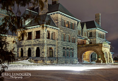 James J Hill Mansion (Greg Lundgren Photography) Tags: winter house snow architecture night hill stpaul landmark mansion saintpaul summitavenue jamesjhill efs1585