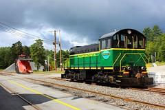 Plow and Alco (ironmike9) Tags: railroad man train rail railway adirondacks locomotive s1 snowplow switcher alco adix adirondackscenicrailroad thendarany adirondackscenicrr mohawkadirondacknorthern