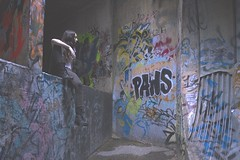 PAWS (jared.ortiz) Tags: urban white art girl wall photoshop work canon underground graffiti photo artwork model women san texas ditch photoshoot suburban decay tunnel wallart layer paws lopez antonio noelle chillen fill