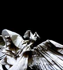 Grim Reaper (Neelesh K) Tags: baby angel skull spider origami dragon faces grim reaper masks lincoln batman joker daredevil grimreaper wyvern uchiha neelesh madara boxpleating origamigrimreaper